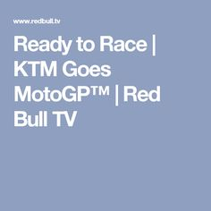 Austria's most successful motorbike racing team makes the jump into MotoGP, the pinnacle of motorcycle racing. Bull Tv, Racing Team, Motogp, Red Bull