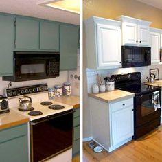 Before/after kitchen remodels
