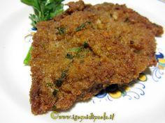 cotoletta di vitello alla catanese. Sicilian Recipes, Sicilian Food, Steak, Picnic, Beef, Chicken, Carne, Cooking, Catania
