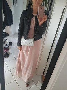 Langes rosefarbenes Kleid von Esprit