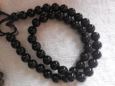 "14"" Strand Black Onyx Smooth Round Beads,Onyx Gemstone Beads Size 8MM #gemstone"