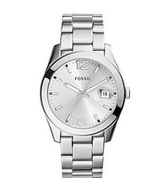Fossil Perfect Boyfriend 3-Hand Date Silver Watch