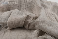 Natural flax linen fabric in grey colour. Specially washed, soft, transparent. #100linen #linenfabric