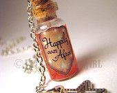 Truth Serum - Glass Bottle Cork Necklace - Potion Vial Charm - Purple Shimmer - Magic Spells - Steampunk. $16.00, via Etsy.