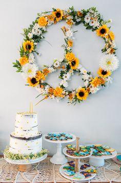 ideas photography kids birthday party planning for 2019 Hippie Birthday Party, Sunflower Birthday Parties, Sunflower Party, Hippie Party, 18th Birthday Party, Birthday Party Themes, Birthday Signs, Cake Birthday, Diy Birthday