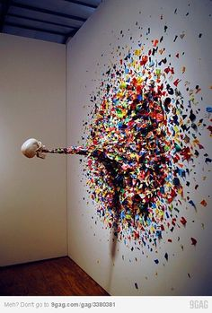 I really want to splatter paint on a wall someday like when I get my own house. could be fun!