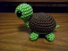 I finished my crochet turtle amigurumi! I must say, I think it's adorable :P. After working on scarves and cowls for a while(which I absol. I finished my crochet turtle amigurumi! I must say, I think it's adorable :P. After working on sca Crochet Animal Amigurumi, Amigurumi Patterns, Crochet Animals, Crochet Patterns, Amigurumi Toys, Crochet Ideas, Crochet Fish, Cute Crochet, Crochet Flowers