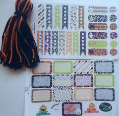 Halloween Mini Kit Planner Stickers/ Halloween Stickers/ Erin Condren Planner…
