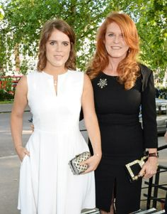 Princess Eugenie of York (L) and Sarah Ferguson, Duchess of York, attend the Art Antiques London Gala Evening in aid of Children In Crisis at Kensington Gardens in London, UK - 10th June 2014