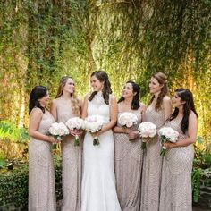 Adrianna Papell bridesmaid dresses against a gorgeous backdrop