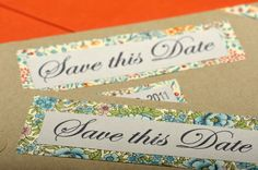 Handmade vintage style save the date luggage tags  for bespoke wedding stationery, check out http://www.lovebirdbespoke.com/