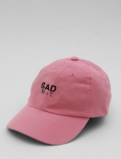 Image of SAD 悲しいです Pink Strapback Strapback Cap d43d95a92316