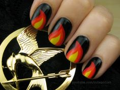 Hunger Games Nails  Credits: CutePolish