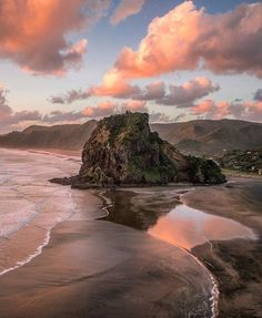 Lion Rock, Piha Beach, New Zealand Monuments, New Zealand Travel, Short Trip, Future Travel, Great Shots, Travel Abroad, Beach Fun, Cool Places To Visit, Adventure Travel