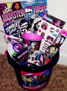 MONSTER HIGH EASTER BASKET pail loaded with Monster High fun NEW