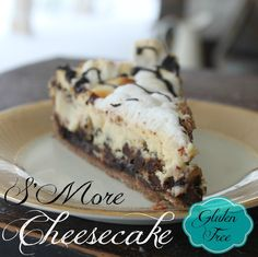 A gluten free cookie crust, chocolate and marshmallows, and all held together by a moist cheesecake? Yes please!