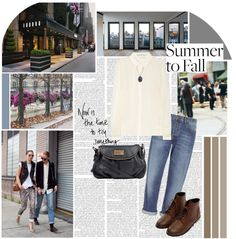 """Summer to Fall : Denim"" by s-ndy ❤ liked on Polyvore"