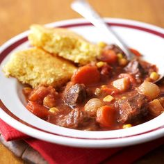 Ancho chile pepper gives this slow-cooker dish a kick! More slow cooker soups and stews: http://www.bhg.com/recipes/slow-cooker/soup-chili/hearty-slow-cooker-soups-stews/?socsrc=bhgpin101612anchobeefstew#page=9