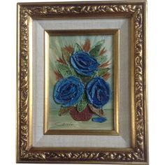 Citroen, Small Impasto Floral Still Life Oil Painting Signed by Artist