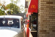We love their sense of fun! Take a ride in a classic car through the drive through of your favorite fast food restaurant for a fun and offbeat picture opportunity!