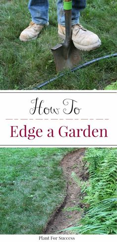 Learn how to edge a garden bed like a pro using this step by step tutorial. Smooth, clean landscape edges are an important element in landscape design. Whether you're edging flower beds, or maintaining and existing garden bed, these tips will help you create a landscape border that pops. #edginglandscape