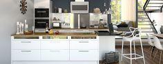 A la Carte -keittiöt Neve. Näyttävät Framilla lasiset etusarjat laatikostossa. Saa myös valaistuna. | #keittiö #kitchen