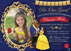 """Thank you for your interest in this Beauty and the Beast Printable Party Invitation! Before you order, here are a few things you should know. :)  1. This invitation is a """"printable."""" This means your purchase is a digital or virtual one. When you make the purchase, we will send you a digital file that you can print yourself in your home or take to a professional printer (Think Kinkos). **Please note** No actual, physical object will be mailed to your home.  2. This invitation is a 5x7, high…"""