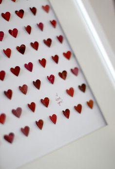 my paper hearts valentine gift idea! - doingg