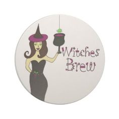 Sandstone Witches Brew Beverage Coaster for Halloween