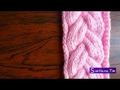 УЗОР ДЕКОРАТИВНАЯ КОСА Вязание спицами #46 - YouTube