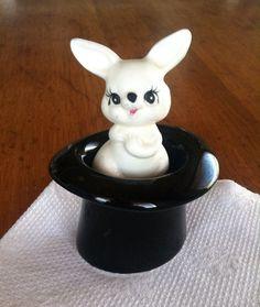 Sarsaparilla Magic Top Hat and Rabbit Salt and Pepper Shakers on Etsy, $20.00