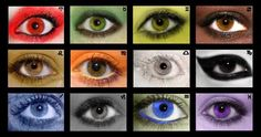 Each eye represents a house of the zodiac, and the colours that represent that house. Red - Aries Green - Taurus Yellow - Gemini Brown - Can. Eyes of the Zodiac Teal Eyes, White Eyes, Black Scorpio, Sagittarius, Types Of Photography, Art Photography, Geometric 3d, Sign Display, Aquarium