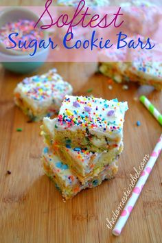 Softest Sugar Cookie Bars {Made with Zulka Pure Cane Sugar!} | The Domestic Rebel