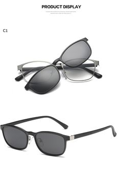 9b46f50b4b6e9 Clip On Sunglasses Magnetic Spectacle Frame Eyeglasses With Polarized  Glasses Driving Optical  ClipOn  Magnet