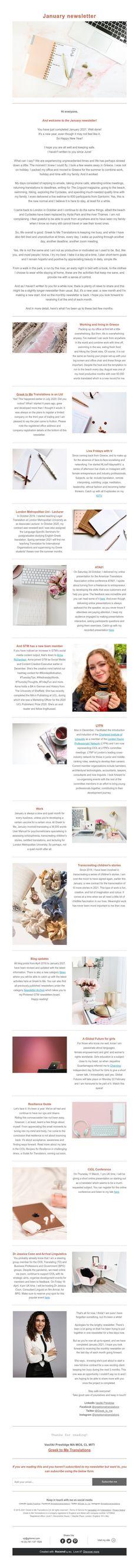 January newsletter London In October, January, Short Term Goals, Greek, News, Greece