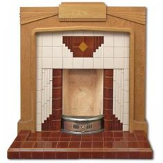 Wyndham Art Deco tiled fireplace insert http://www.c20fireplaces.co.uk/repro_fireplace_inserts/rfpi001_wyndham-art-deco-tiled-fireplace-insert