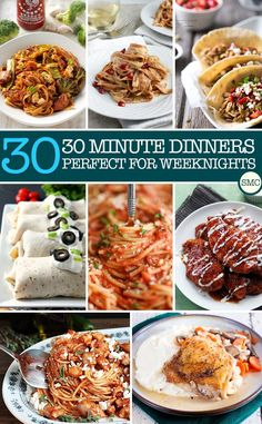 These 30 minute dinner recipes look perfect for weeknights when I don't have time to cook!