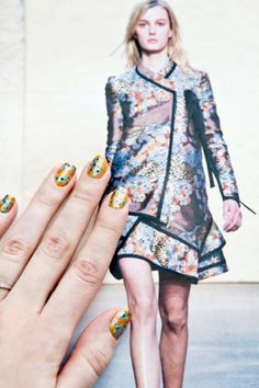 Proenza Schouler's Kimono Flowers is a Great Idea for Spring Nails!