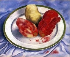 Frida Kahlo - Tunas (Still Life with Prickly Pear Fruit), 1938