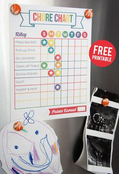 FREE Printable Chore Chart on www.strawberrymommycakes.com #CollectiveBias #shop #SparklySavings