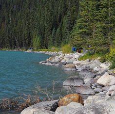 """Lakeside"" Lake Louise, Banff National Park."