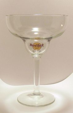 Hard Rock Cafe Collectible Margarita Glass Atlantic City, NJ  Highly collectible Margarita Glass from Hard Rock Cafe Antlantic City New Jersey Hard Rock Cafe Logo and Atlantic City organic ink decal print on glassware.