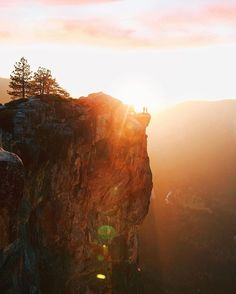 """Here's a @beautifuldestinations experience from one of our content creators, @jamesrelfdyer: """"The sun burst from behind the pink clouds to cast a glow that coated the entire Yosemite Valley. From 2000m above we stood on the edge of Taft..."""