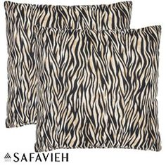 @Overstock.com - Safari Zebra 22-inch Ivory/ Black Decorative Pillows (Set of 2) - Add some spice and fun to your home or office with these stylish decorative pillows in zebra patterns. They offer a touch of excitement and a contemporary aesthetic appeal to your simple room decor. You can also enjoy great comfort with such pillows.  http://www.overstock.com/Home-Garden/Safari-Zebra-22-inch-Ivory-Black-Decorative-Pillows-Set-of-2/5902989/product.html?CID=214117 $44.99