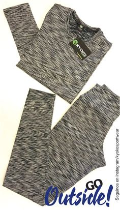 Camiseta térmica  + Calza térmica jaspeadas.  Talles: 38-40-42-44-46 Colores: Gris Topo-Francia-Fucsia Encontralo en kyoko sportwear #winter #fit #activewear #loveit #campera #calza #legging #tendencia #fw17 #fall winter 2017 www.kyokosportwear.com.ar