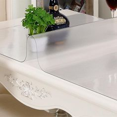Superior Semi Clear 1.0mm Thickness Plastic Table Cloth Scrub Soft Glass PVC Table  Cover Restaurant Table