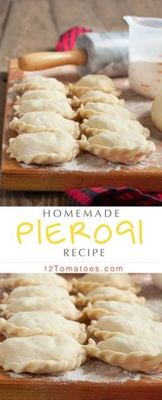 Homemade Polish Pierogi Pierogi are classic Polish comfort food, but you shouldn't have to settle for the frozen foods aisle when you're craving them. Making the real thing is far more satisfying, and we've got a great recipe! Polish Pierogi, Great Recipes, Favorite Recipes, Fast Recipes, Polish Recipes, Polish Food, Tasty, Yummy Food, Empanadas