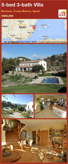 5-bed 3-bath Villa in Villamartin, Costa Blanca, Spain ▻\u20ac349,000