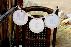 Mr & Mrs banners