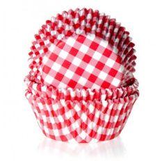caissettes pour cupcakes carreaux vichy rouge et blanc